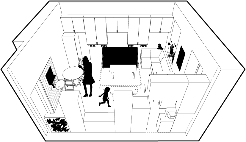 Flüchtlingshaus_Rossauerlände 3D / Selection, Story 1
