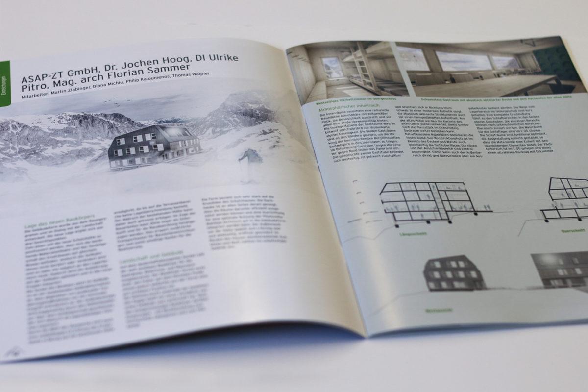 PUBLIKATION ALPENVEREIN – WETTBEWERB VOISTHALERHÜTTE