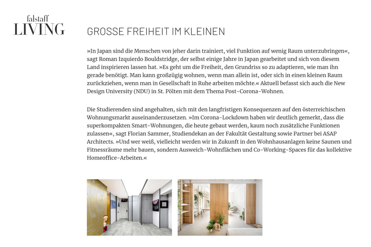 ASAP IM FALSTAFF LIVING MAGAZIN